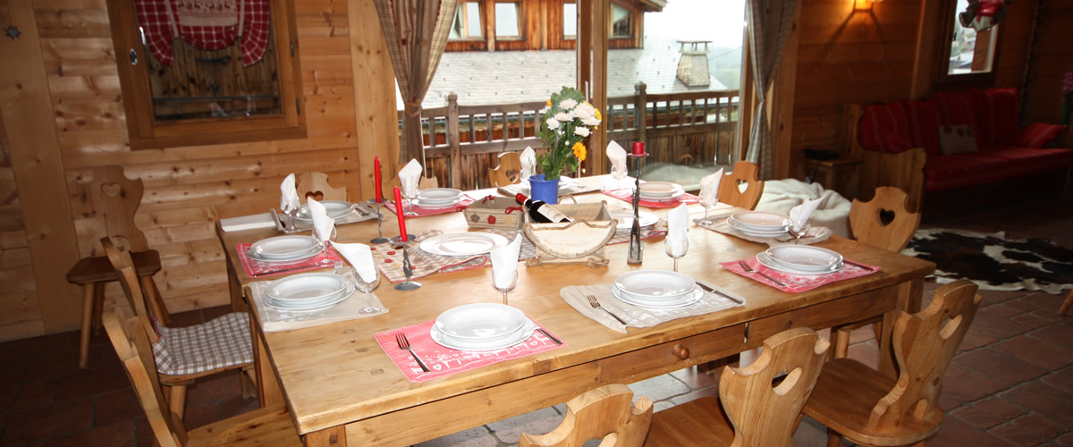 Catered Chalet Morzine - Enjoy dining at the chalet