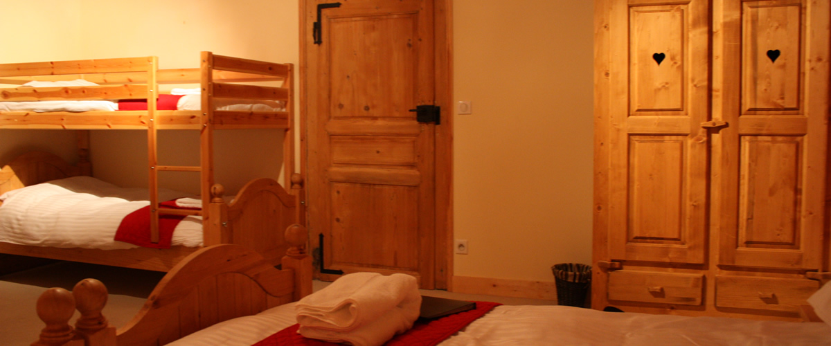 Ensuite bedroom in our catered ski chalet